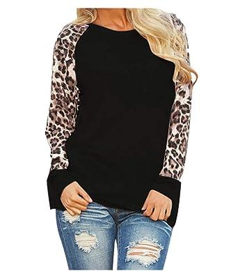 8bbf3acd Clearance Sale ! Women Sweatshirt, BeautyVan Women Casual Leopard Long  Sleeve Loose Pullover Tunic Tops