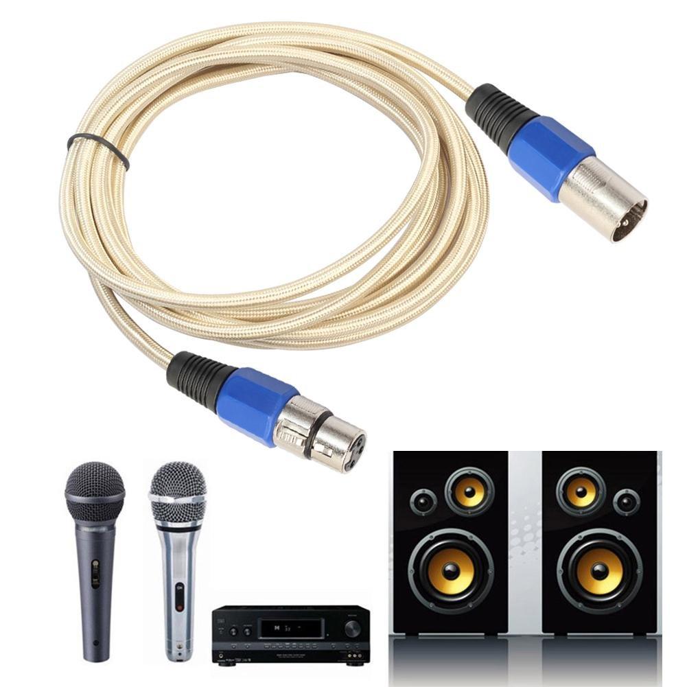 C/âble audio Microphone Plomb Micro C/âble Audio Cordon XLR Patch avec Bouchons M/âle /à Femelle /Équilibr/és en Or Luxueux