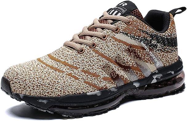 Kuako Hombre Zapatos para Correr Transpirables Resistente ...
