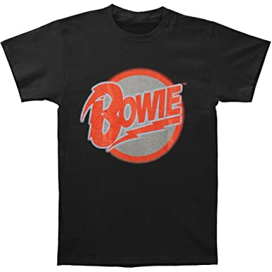 Amazon.com: David Bowie Men's Diamond Dogs Logo T-shirt Black ...