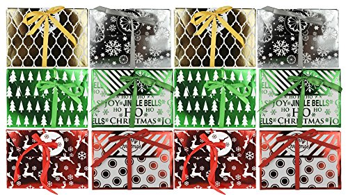 Set of 12 Assorted Christmas/Holiday Money/Gift Card Holder Greeting Cards!