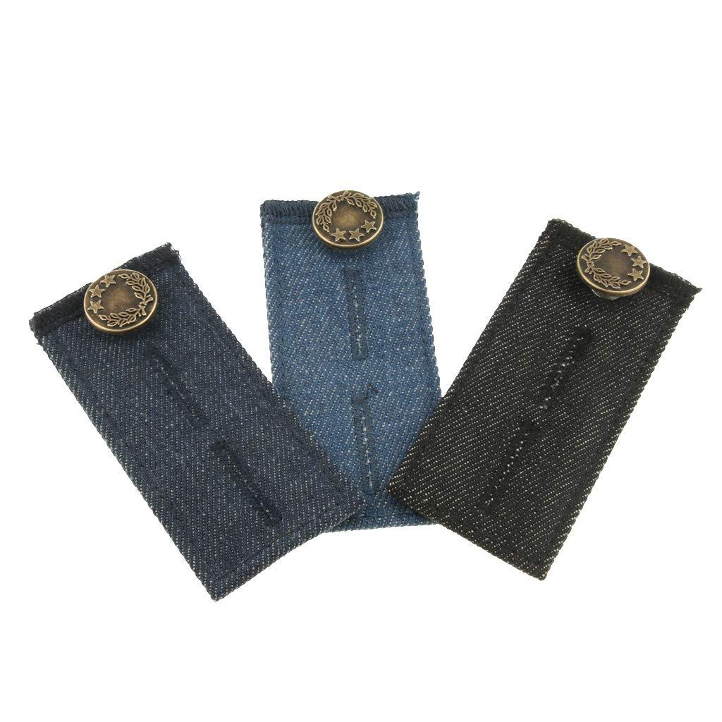 P Prettyia 3 PCS Estensibile Tessuto Elastico 86x35.7mm Accessorio Jeans per Pantaloni Regolabili