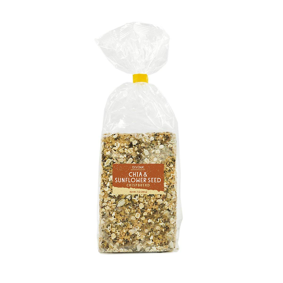 Divina Chia & Sunflower Seed Crispbread, 7 Oz. (Case of 14)