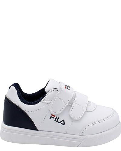 beae0b814 Amazon.com | Fila Kids G 1000 Strap Sneaker (Toddler), White/Navy, 7 ...