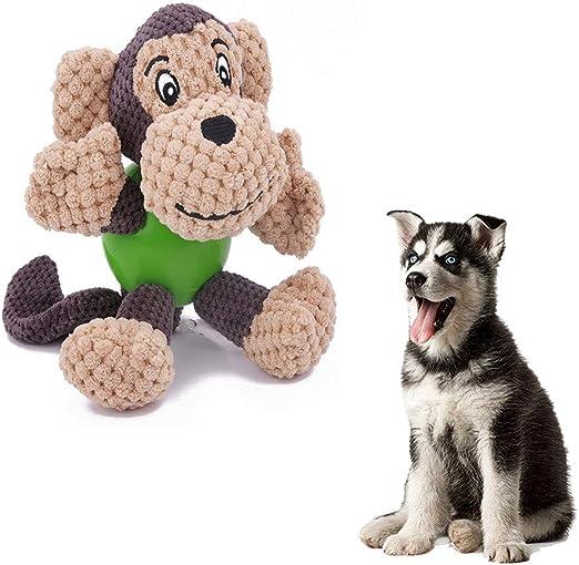 Juguetes de peluche para perros, mono con masticar Guardia Pelota ...
