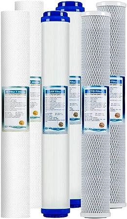 LZH FILTER Paquete de 6 Kit filtros ósmosis inversa Universal 20 ...