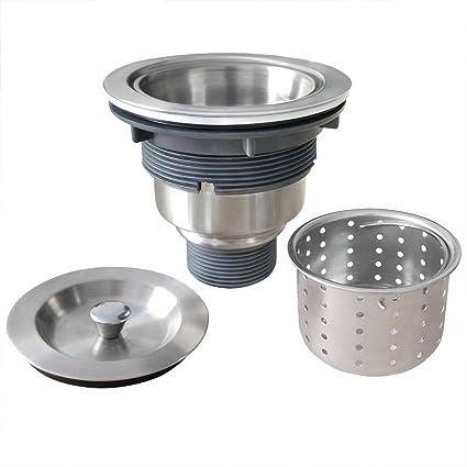 Gzila 3-1/2-Inch Kitchen Sink Strainer with Removable Deep Waste ...