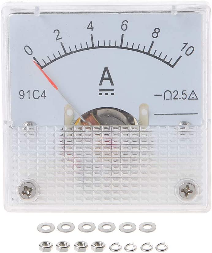 BASSK 91C4 Ampere Meter DC Analog Current Meter Panel Mechanical Pointer Type 1//2//3//5//10//20//30//50//100//200//300//500mA A