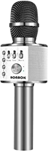 BONAOK Wireless Bluetooth Karaoke Microphone,3-in-1 Portable Handheld Karaoke Mic Speaker Machine Christmas Birthday Home Party for Android/iPhone/PC or All Smartphone(Q37 Space Gray)