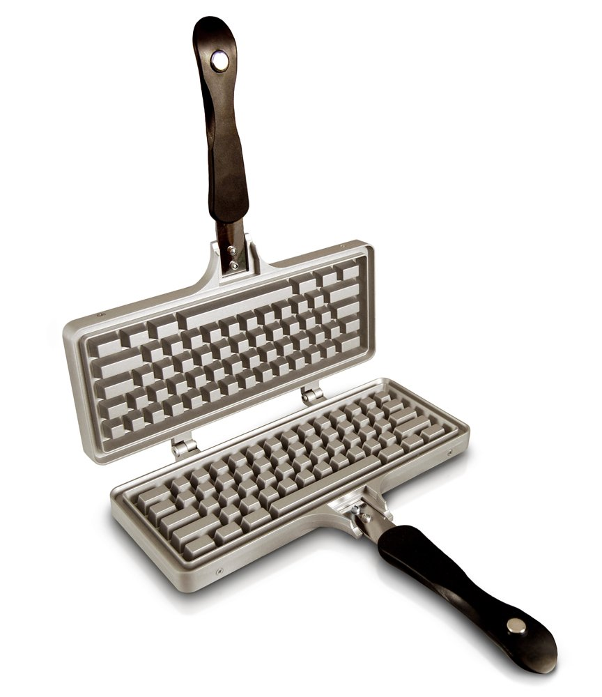 The Keyboard Waffle Iron, Stovetop Waffle Maker, Makes Extra Large Waffles by The Keyboard Waffle Iron