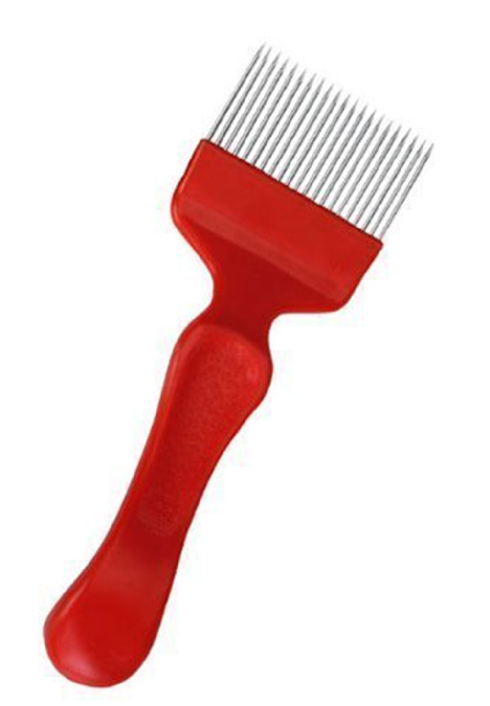 Demarkt Bee Keeping Stainless Steel Uncapping Fork Tool Red or(Yellow )