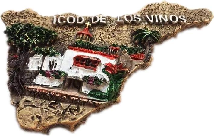 Tenerife Mapa de España Europa Ciudad Mundial Resina 3D Fuerte Imán para nevera Regalo turístico Imán chino Hecho a mano Artesanía Creativa Casa y Cocina Decoración Magnética (1): Amazon.es: Hogar