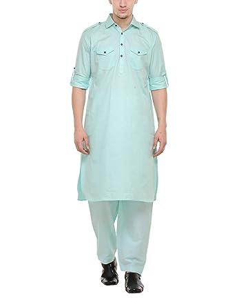 82e2001731 RG Designers Pista pathani kurta Salwar Set: Amazon.in: Clothing &  Accessories