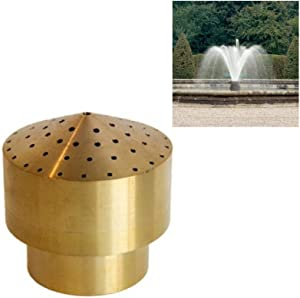 "NAVADEAL 1/2"" DN15 Brass Cluster Water Fountain Nozzle Spray Pond Sprinkler - for Garden Pond, Amusement Park, Museum, Library"
