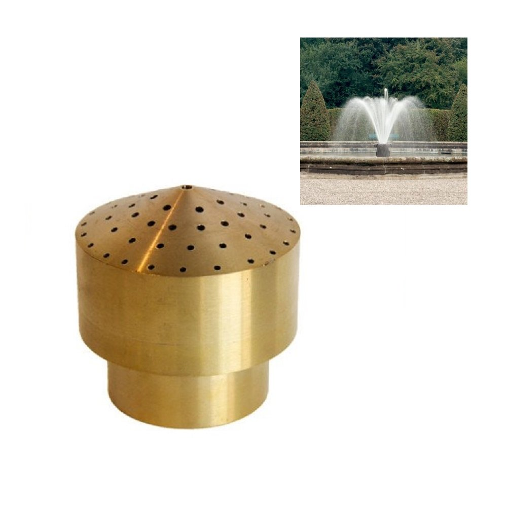 NAVADEAL 2'' DN50 Brass Cluster Fountain Nozzle Spray Pond Sprinkler - For Garden Pond, Amusement Park, Museum, Library