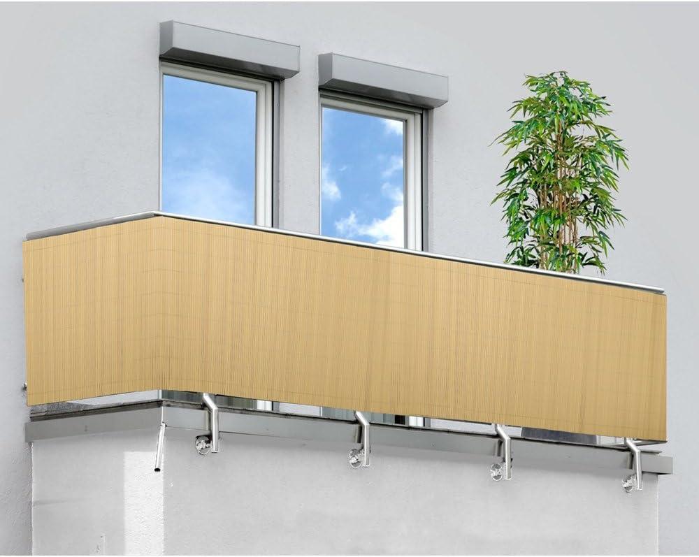 Marrone Hengda/® Frangivista Canniccio PVC Paravento privacy Frangivento Recinzione giardino per giardino, balcone e terrazza(80X400cm