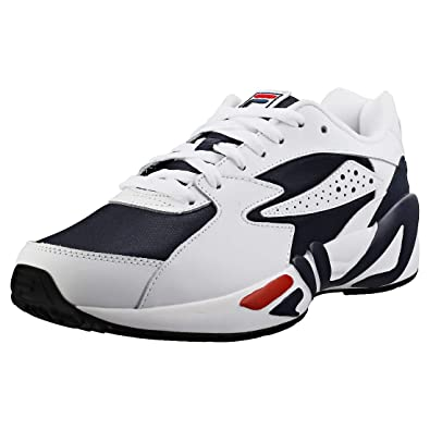 Fila Mens Navy/White / Red Mindblower Sneakers-UK 7