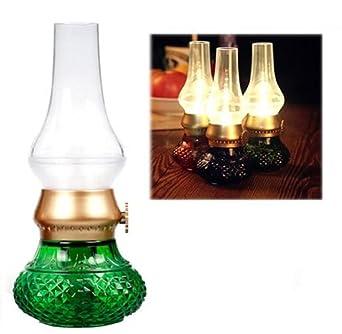 Bellabrunnen LED Tischlampe Klassische Lampe, Retro Vintage Laterne Blow  LED Mit Lithium Akku USB