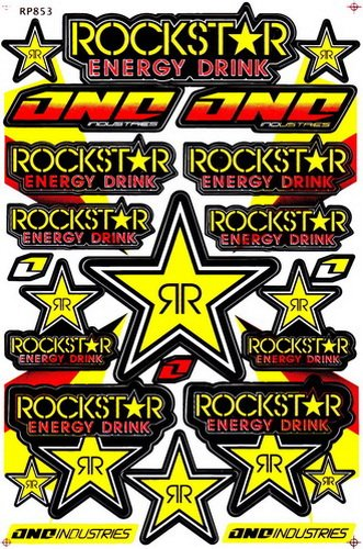 Amazoncom Rockstar Energy Sticker Car Racing Motorcross Decal - Decal graphics for motorcycles
