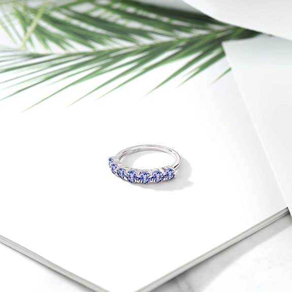 Details about  /Unheated Oval Blue Tanzanite Cz 14K White Gold Plate 925 Sterling Silver Ring