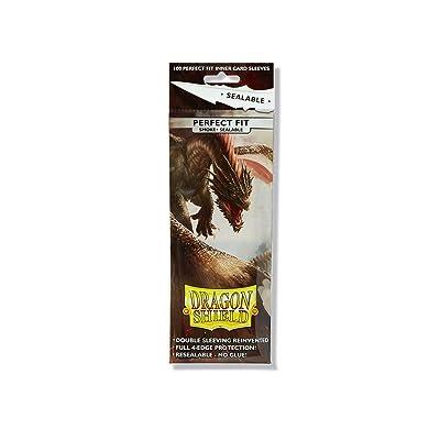 Dragon Shield Sleeves Sealable Smoke (100): Toys & Games