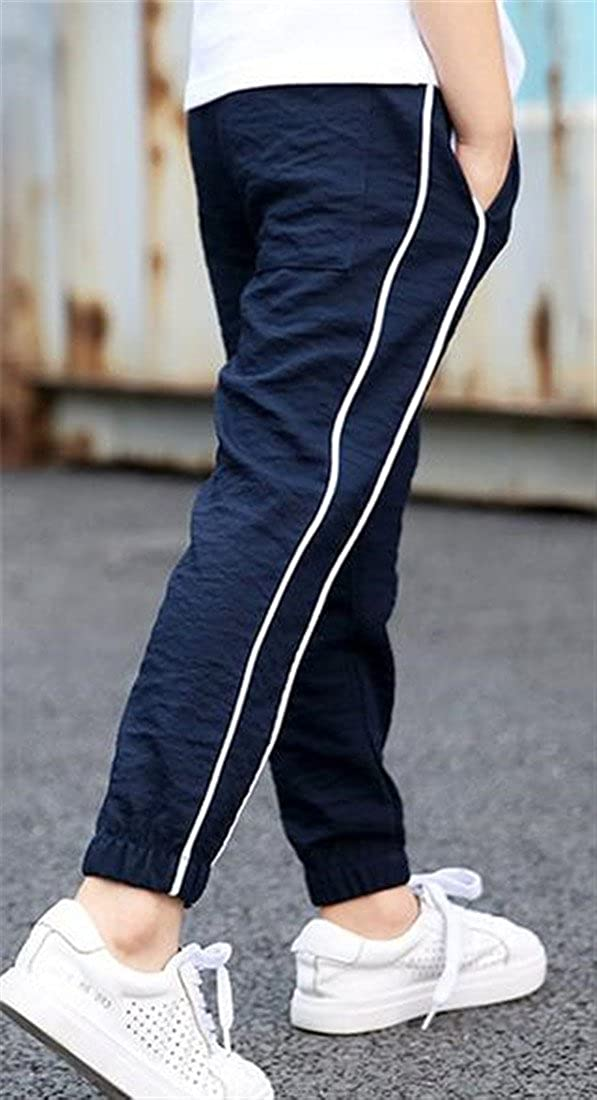 Pandapang Boys Active Elastic Waist Casual Baggy Ankle Length Jogger Pants