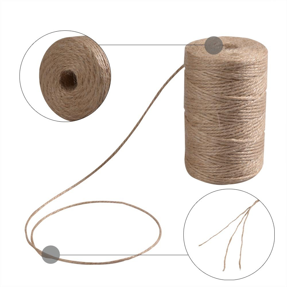 Z/&S Groups Package Twine interior decorating-natural twine used Wedding//Christmas,Gift Box and home decor,jute twine-360 feet 3ply.