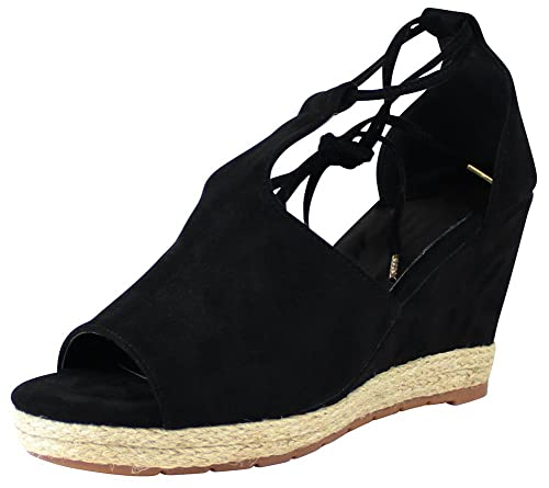 197e2fc6eebc Cambridge Select Women s Open Toe Ankle Tie Wrap Espadrille Wedge Sandal