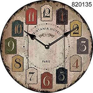 Bigfamily Vintage reloj de pared reloj de cuarzo Mute Home Living colgante decoracion Decoracion