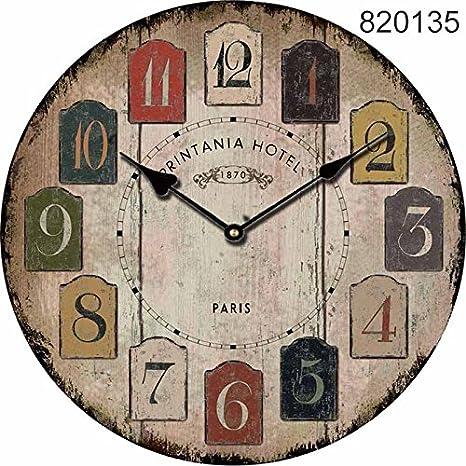Auntwhale Horario de comidas Cocina única Decoración de estilo vintage Reloj de pared de madera Decoración