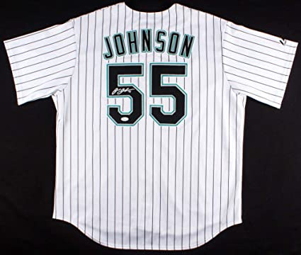 be2ddfc00ba Josh Johnson Autographed Signed Marlins Majestic Jersey - JSA Certified