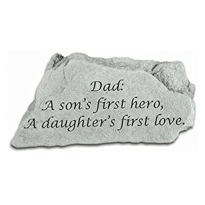 Kay Berry- Inc. 47020 Dad - A Sons First Hero - Memorial - 5.5 Inches x 3.25 Inches : Outdoor Decorative Stones : Garden & Outdoor