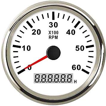 12V Chrome Tachometer 0-3000 RPM Alternator  Driven