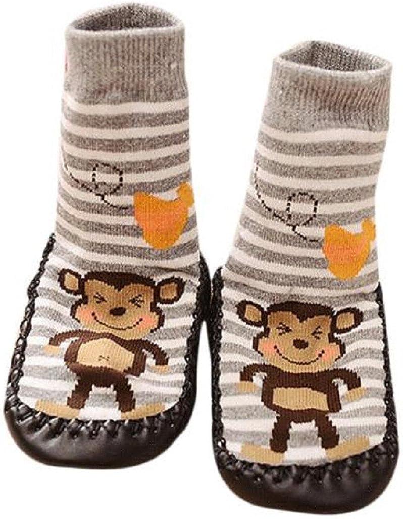 Vovotrade/® Baby Boys Girls Kids Cute Cartoon Toddler Anti-slip Sock Shoes Boots Slipper Socks Age 0-6 18 24 Months