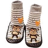 Vovotrade® Baby Boys Girls Kids Cute Cartoon Monkey Toddler Anti-slip Sock Shoes Boots Slipper Socks Age 0-6 18 24 months Gray (6-18 months)