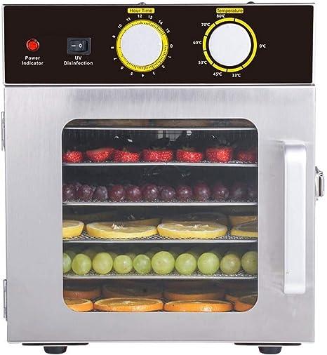 Opinión sobre L.TSA Deshidratador de Alimentos Secador de Alimentos, desinfección UV 30 ° C -90 ° C Temporizador de Acero Inoxidable 304 de 6 bandejas, deshidratador de Alimentos, para el procesamiento