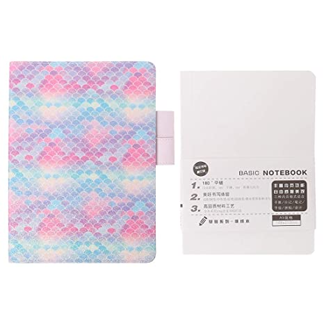 Amazon.com: A5 A6 Fish Scale Sequin Notebook Diary Weekly ...