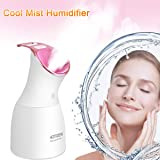 Homder Cool Mist Humidifier Face Steamer, Nano Ionic UV sterilization USB Moisturizing Face Steamers,up to 10hrs Use, BPA-Free, Waterless Auto-Off for Bedroom Office Baby Desk