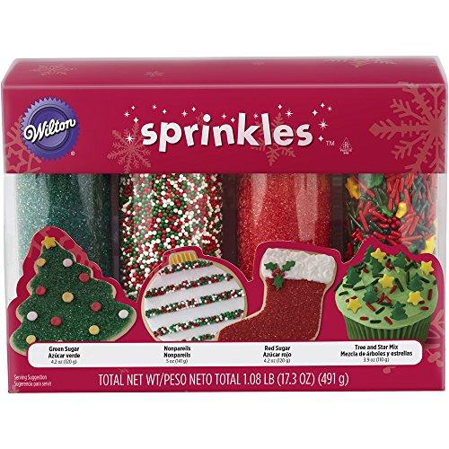 Wilton Holiday Sprinkles 4-Pack (Cookies Sugar Christmas)