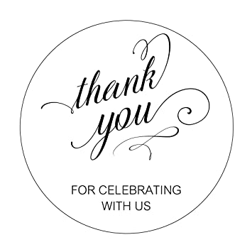 amazon com thank you for celebrating with us stickers elegant
