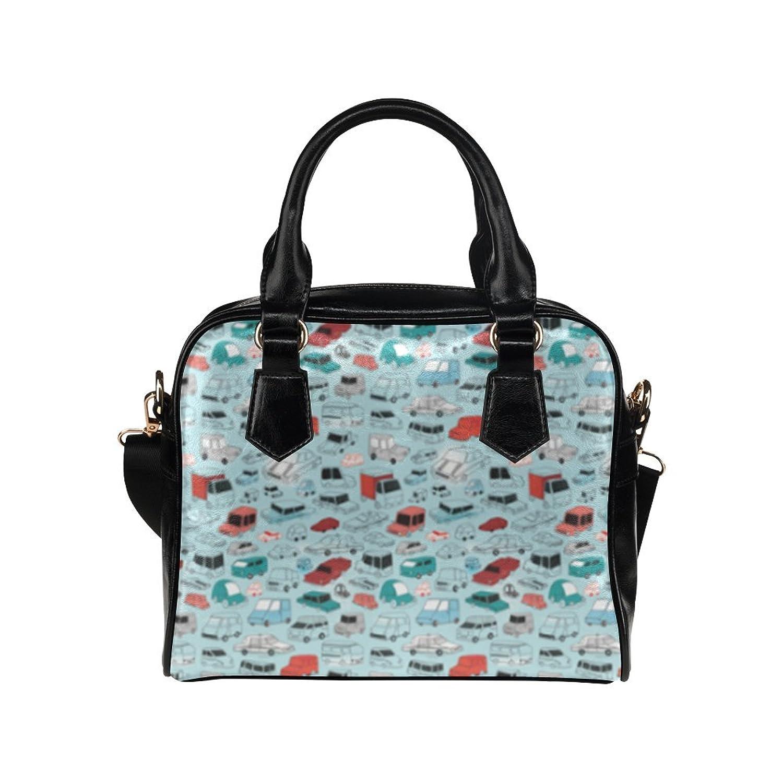 Car Pattern Design Custom Leather Handbag Shoulder Bag for Women By Boom~shakalaka (Twin Sides)