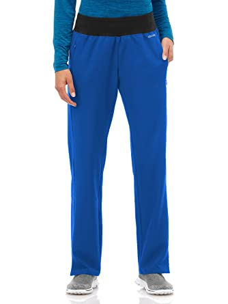 2ee24e983e Performance Rx by Jockey Women's Knit Waistband Yoga Scrub Pant Xx-Small  Galaxy Blue