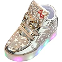 Nevera Baby Shoes Infant Toddler Girls Bow Crystal LED Light up Luminous Sneakers Shoes
