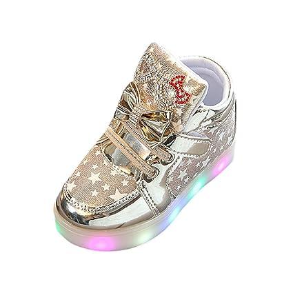 6b7b9c3d261ba Clode💞Enfant en bas âge de mode Sneakers étoiles lumineux enfants Casual  coloré chaussures (