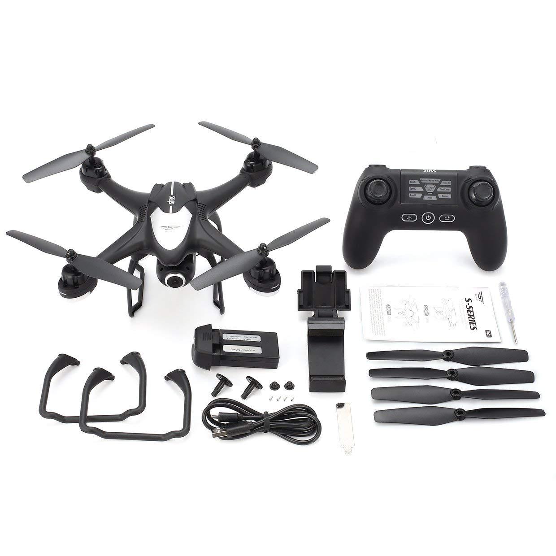 Qewmsg / SJR / Qewmsg C S30W 2.4G Dual-GPS-Positionierung FPV RC Quadcopter-Drohne mit 1080P Verstellbarer Weitwinkel-WiFi-Kamera Follow Me Hovering 545b78