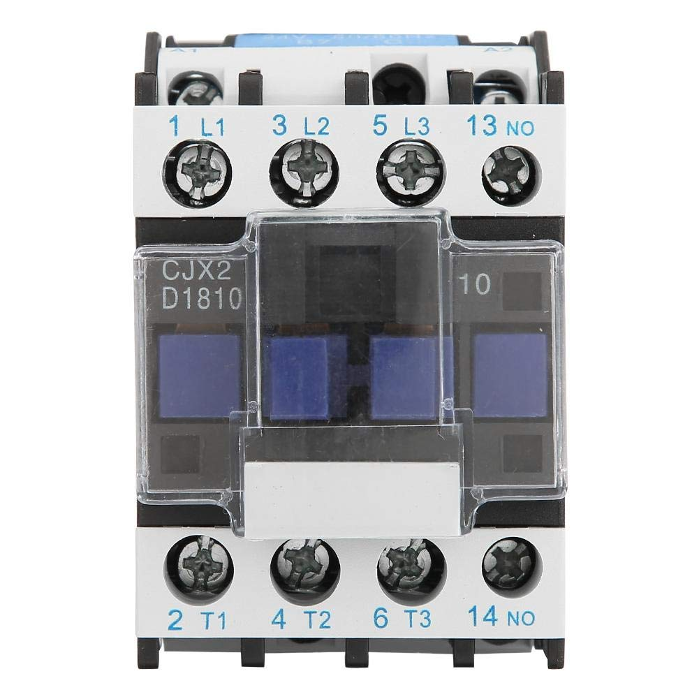 AC Contactor 380VAC CJX2-1810 Industrial Electric AC Contactor Rail Mount Household Contactor Used in Power,Distribution,Power Applications