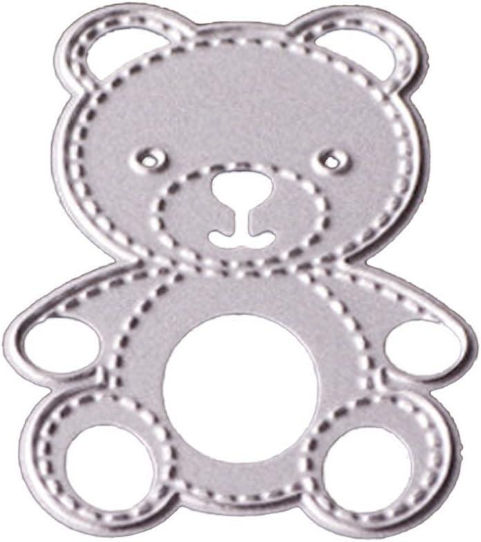 gaufrage scrapbooking Gabarit de d/écoupe en m/étal en forme dourson Compatible pour bricolage