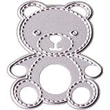 DIY pequeño oso forma corte de metal muere Plantillas álbum de recortes (en espiral, diseño de