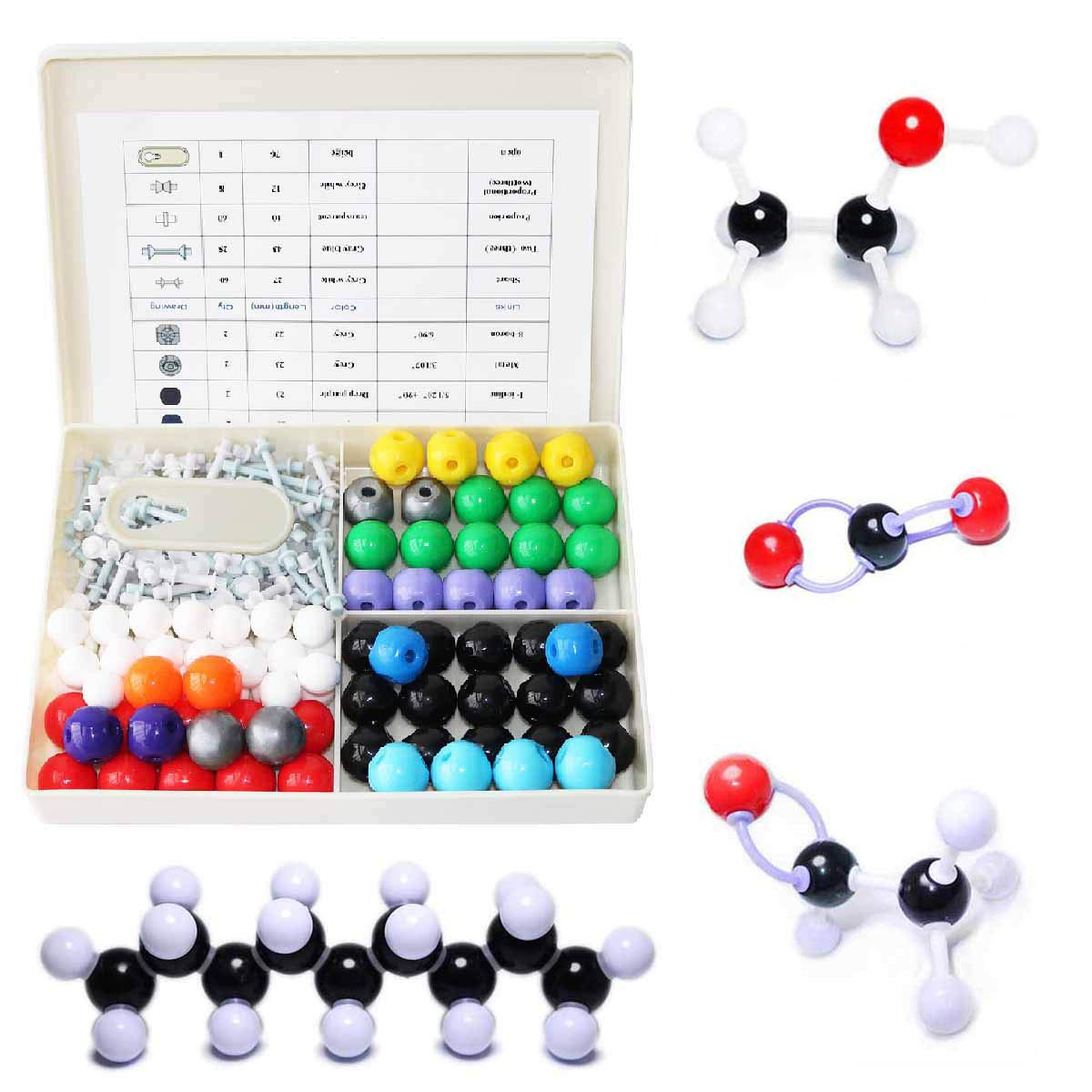 LINKTOR Chemistry Molecular Model Kit, Student or Teacher Set for Organic and Inorganic Chemistry Learning, Motivate Enthusiasm for Learning and Raising Space Imagination (240 Pack)