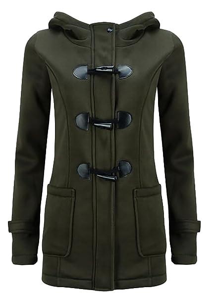 622e7a5810e CBTLVSN Womens Warm Casual Wool Blended Classic Hooded Pea Coat Jacket at  Amazon Women s Coats Shop